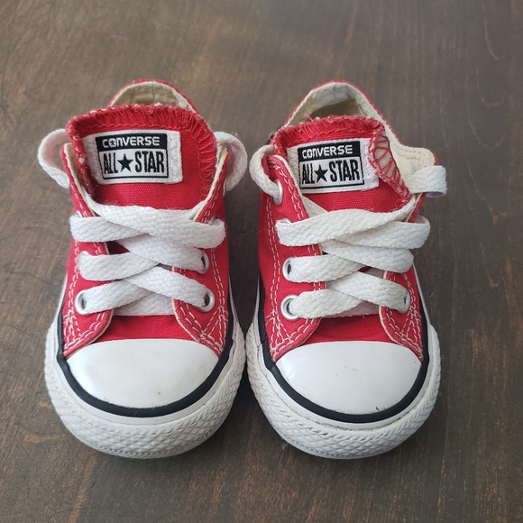 Converse Shoes   Red Size 4   Poshmark